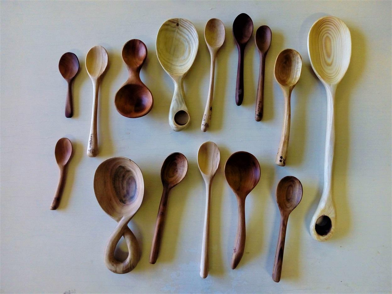 Different kinds of spoons